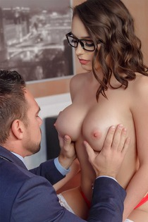 Ashley Anderson Fucking In Office With Boss
